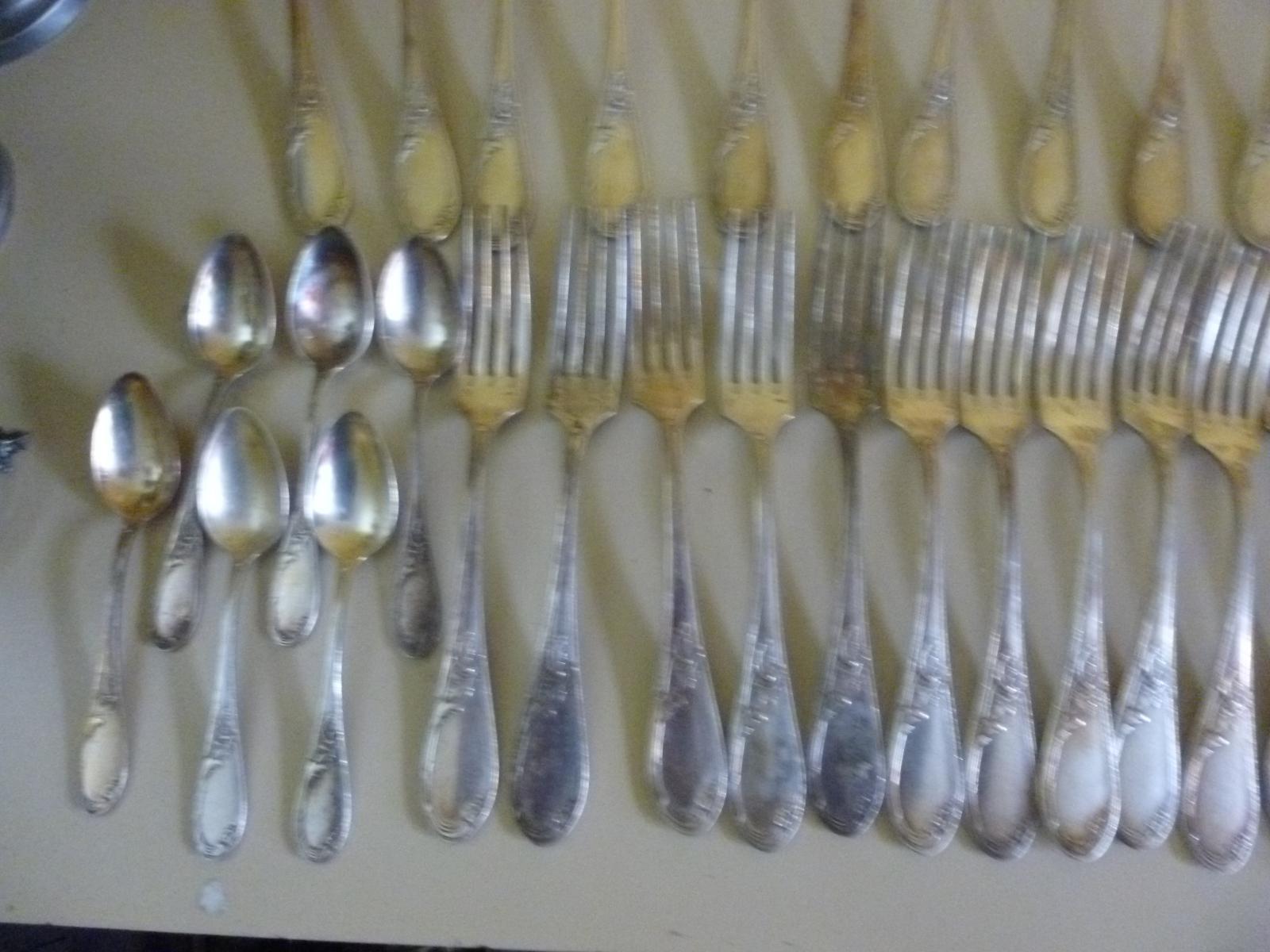 Posate Argento Come Pulirle dettagli su pennelli posate metallo argento forchette cucchiai coltelli  apollo louis xv